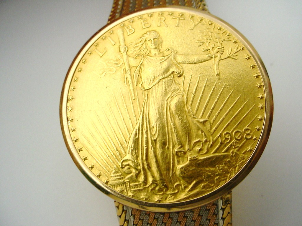 Gubelin 18K Tri Color Gold U.S. 20 Dollar Gold Coin Made ...