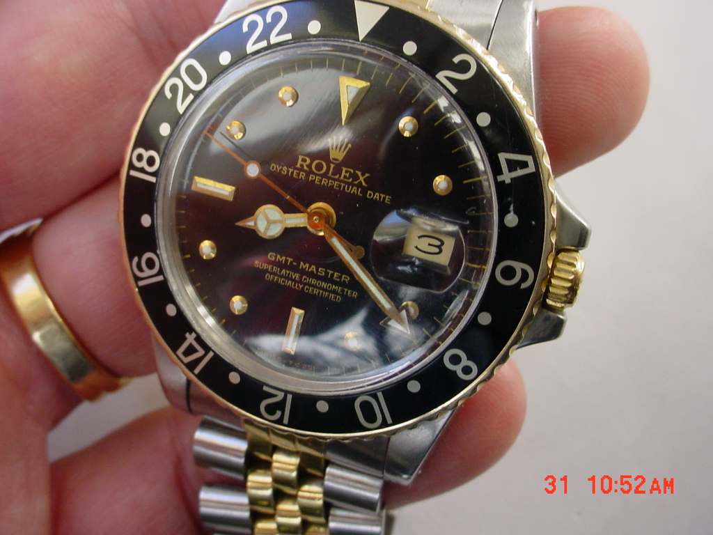 Rolex Gmt 16753 Ss14k Gold Nipple Afinewatch Com