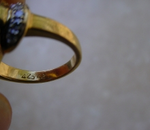 ringsapphdiamonds18K9