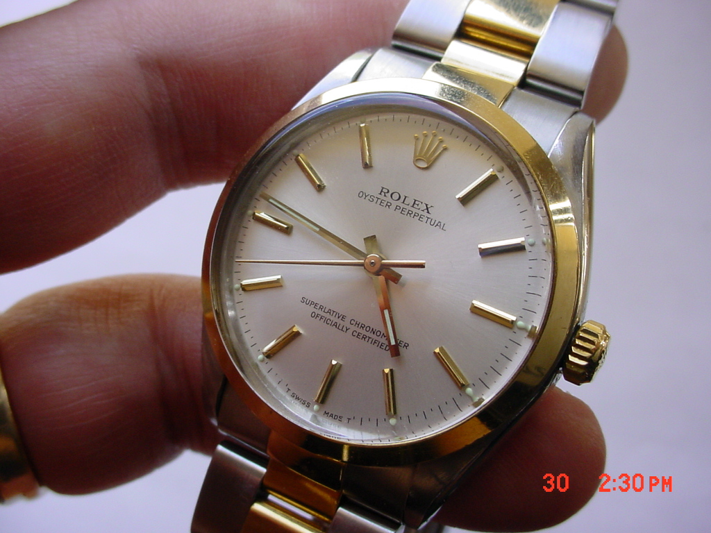Rolex Oyster Perpetual Ref 1002 Ss 18k Afinewatch Com